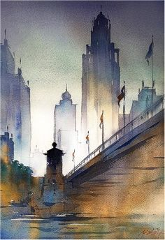 Thomas W. Schaller「(15 minute sketch)child and grandfather ...