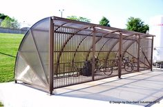 Bike Shelters | Duo-Gard bike shelter installed at a private company in Valparaiso, IN
