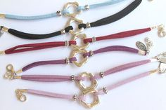 Suede Abstract Rose Bracelet