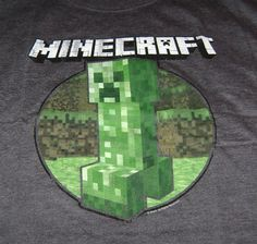 MINECRAFT CREEPER RETRO-DESIGN T-SHIRT XL X-LARGE NEW AUTHENTIC TEE