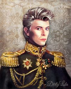 We could be Heros, just for one day. Memorialize the Thin White Duke with this beautiful art print. He was a regal man, one of my personal heros, a unique soul, and now a divine spirit. He will always live on in are hearts and our art.  Print Details:  Available in 8x10, 11x14, or 16x20 inches.  This is a high quality art print of my original Digital painting.  Your print will be printed on 110 lb. matte cover stock.  Watermark will not appear on your purchased print. Frame is not included…