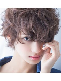 Pin on ヘアカタログ Pin on ヘアカタログ Short Curly Hair, Short Hair Cuts, Short Hair Styles, Short Hairstyles For Women, Messy Hairstyles, Corte Bob, Hair Arrange, Corte Y Color, Grunge Hair
