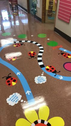 The Sensory Path - Sensory Path, Sensory Integration, Playground Sensory Wall, Sensory Rooms, Sensory Activities, Activities For Kids, Floor Decal, Floor Stickers, Playground Painting, Playground Flooring, Kindergarten Sensory