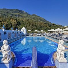 Located on the magical island of Ischia (Italy) in the village of Casamicciola the Terme Manzi Hotel & Spa is an architectural gem built in the 19th century.  Follow: @blueskydestinations -  @termemanzihotelespa | @relaischateaux -  Tag #blueskydestinations to be featured -