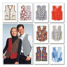 McCall's Unisex Adult Waistcoat Sewing Pattern M6228 $8.25