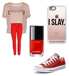 """""""Sometimes less is more"""" by leah3000 ❤ liked on Polyvore featuring ONLY, J Brand, Converse, Chanel and Casetify"""