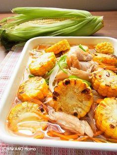 夏の作り置きおかず♪ とうもろこしと焼きささみの野菜たっぷりマリネ ...