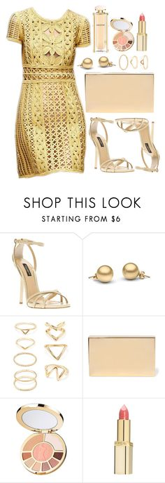 """""""Untitled #3558"""" by natalyasidunova ❤ liked on Polyvore featuring Burberry, Dolce&Gabbana, Forever 21, Victoria Beckham, tarte, L'Oréal Paris, Salvatore Ferragamo, women's clothing, women's fashion and women"""