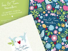 Einladungskarten - Hochzeitseinladung 10 - ein Designerstück von Liebesdienst bei DaWanda
