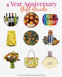 Total Basset Case: Fruit & Flowers : 4 Year Anniversary Gift Guide