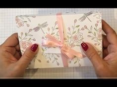 Dragon Fly Note Card Box - YouTube