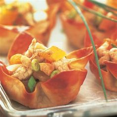 Spiced Vinaigrette Chicken Salad Cups