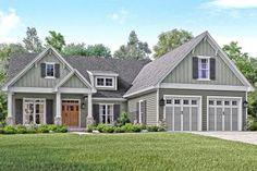 House Plan 041-00144 - Craftsman Plan: 2,004 Square Feet, 3 Bedrooms, 2.5 Bathrooms