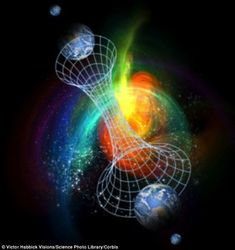 Parallel universes (illustrated) are thought to exist under certain theories that attempt to explain the properties of subatomic particles, atoms and gravity as a single unified theory