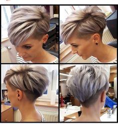 Today we have the most stylish 86 Cute Short Pixie Haircuts. We claim that you have never seen such elegant and eye-catching short hairstyles before. Pixie haircut, of course, offers a lot of options for the hair of the ladies'… Continue Reading → Short Hair Undercut, Short Pixie Haircuts, Haircut Short, Pixie Haircut For Round Faces, Pixie Haircut For Thick Hair, Pixie Cut With Undercut, Pixie Bangs, Edgy Pixie Cuts, Short Grey Hair
