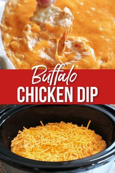 This Super Easy Buffalo Chicken Dip the perfect easy appetizer to enjoy in the crockpot or oven!  This Buffalo Chicken Dip Recipe is filled with chicken, buffalo sauce, ranch and cheese for the Buffalo Chicken flavor we all love! #crockpot #buffalochickendip #buffalochickendipcrockpot #appetizer | allthingsmamma.com