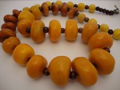 Vintage Amber Moroccan Clay Resin Berber Tribal Trade Beads Grande Huge Long Necklace by graffias65jewelry on Etsy https://www.etsy.com/listing/96236899/vintage-amber-moroccan-clay-resin-berber