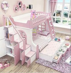 Lovely Pretty Shabby Chic Kids Bedroom Ideas For Girls Girls Bedroom, Girl Bedroom Designs, Bedroom Decor, Bedroom Shelves, Princess Bedrooms, Princess Room, Cute Bedroom Ideas, Cute Room Decor, Toddler Rooms