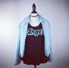 90's Angel Crop Top // S M by FeelingVagueVintage on Etsy