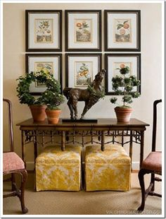 Chinoiserie Chic · Yellow OttomanFoyersDecorating ...