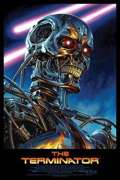 "Jason Edmiston The Terminator ""One Possible Future"" Poster 2013 Print Art Mondo New Retro Wave, Retro Waves, Jason Edmiston, Image Cinema, Terminator Movies, Terminator 1984, Terminator Tattoo, Kunst Poster, Kino Film"