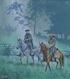 Mort Kunstler: Storm Over Gettysburg, Generals Robert E. Lee and James Longstreet Gettysburg, July 1863 Military Art, Military History, Military Figures, American Civil War, American History, Civil War Art, Confederate States Of America, Confederate Leaders, Pulp