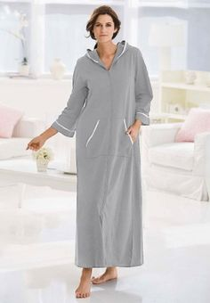 Dreams and Company Plus Size Long Hooded Robe Dreams & Co $26.99 - $31.99