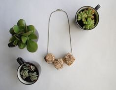 Image of Faceted maple trio necklace