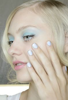 Nastya Kusakina, Badgley Mischka Spring/Summer 2014, Beauty.