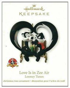 """Hallmark Keepsake Ornament Looney Tunes """"love Is in Zee Air"""" Pepe Le Pew 2011 for sale online Looney Tunes, Pepe Le Pew, Love Is, Twelve Days Of Christmas, Hallmark Keepsake Ornaments, 60th Anniversary, Xmas, Christmas Ornaments, Christmas Vacation"""