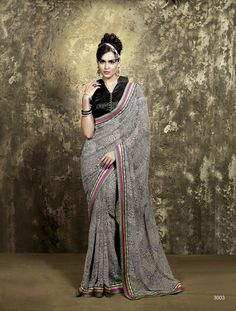 Georgette Bhagalpuri Saree