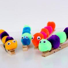 25 Clothespin Crafts for Kids: Caterpillar Clothespin Craft