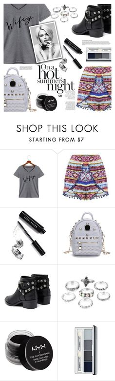"""""""Style Watch: Statement Tees"""" by eclectic-chic ❤ liked on Polyvore featuring Bobbi Brown Cosmetics, Senso, NYX, Clinique, statementtshirt, stylewatch, slogantshirts and yoins"""
