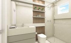 E que tal esse banheiro com tons neutros e revestimento amadeirado? Lindo né? 😍❣️ . . . . . . . . . #architecture #arquitetura #arch…