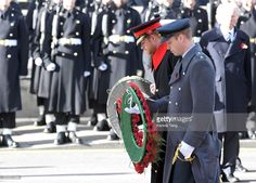 Prince Harry and Prince William, Duke of Cambridge attend the annual Remembrance Sunday Service at the Cenotaph on Whitehall on November 13, 2016 in London, England. The Queen, senior politicians, including the British Prime Minister and representatives from the armed forces pay tribute to those who have suffered or died at war.