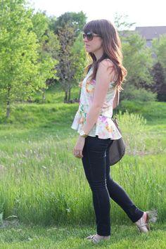 Floral Peplum Two Ways