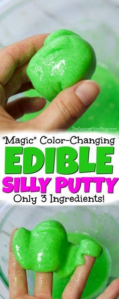 This Silly putty is so easy to make and the kids will love it!