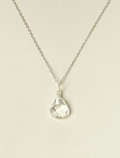 Crystal Gemstone & Sterling Silver Pendant Necklace #Silver #Jewelry