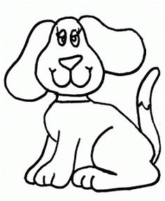 Kids Page Easy Draw Dog Coloring Pages