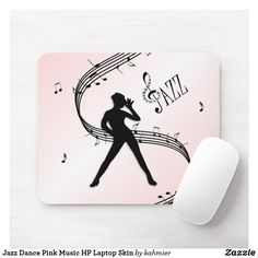 Jazz Dance Pink Music HP Laptop Skin Mouse Pad Pink Music, Dance All Day, Hp Laptop Skin, Jazz Dance, Dance Photos, Custom Mouse Pads, Marketing Materials, Create Your Own, Fun