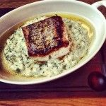 Roast Hake, brown butter, dill & lemon risotto. By Tom Aikens