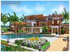 Sirintorn Thai Villa by Autaki  http://www.thesimsresource.com/downloads/1177676