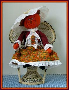 Linda Walsh Originals Dolls and Crafts Blog: The Dolls Product Lines Series - Penelope Pumpkin Lady