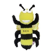 "Squeaky Plush & Crinkle Toy.     Toy Reads (on Back) ""Buzz Off""  Size: 12 Inches    WaggMore recommends supervising your pet while he or she is playing with any toy."