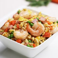 One-Pot Chinese Fried Rice Asian Recipes, Mexican Food Recipes, Dinner Recipes, Ethnic Recipes, Lasagna Recipes, Healthy Snacks For Diabetics, Healthy Recipes, Seafood Recipes, Cooking Recipes