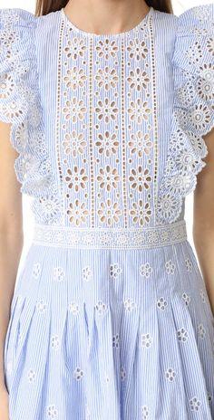 Sea Ruffled Eyelet Dress | SHOPBOP