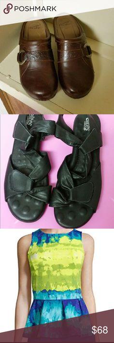 Beautiful bundle for Tracy W. Brown Dankso, black walking Cradles shoes, and Worthington blouse Dansko Shoes Mules & Clogs
