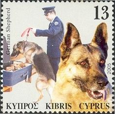 Stamp: German Shepherd (Cyprus) (Dogs in the service of man) Mi:CY 1058,Yt:CY…