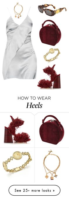 """""""Untitled #2210"""" by lucyshenton on Polyvore featuring Bertoni, Versace, E L L E R Y, Louis Vuitton and Bloomingdale's How To Wear Heels, Versace, Louis Vuitton, Formal Dresses, Polyvore, Outfits, Fashion, Dresses For Formal, Moda"""