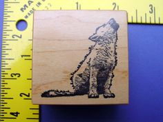 PSX Rubber Stamp  Coyote Dog Wolf Animal by cookingpinkpanther